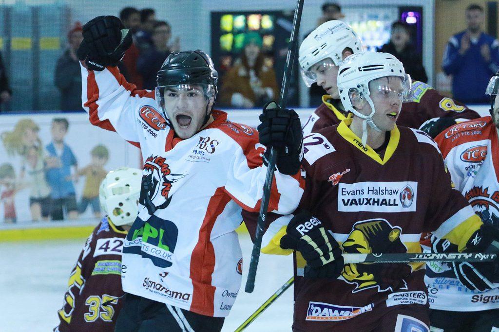 Elliott Farrell enjoys his goal (Steve Crampton)