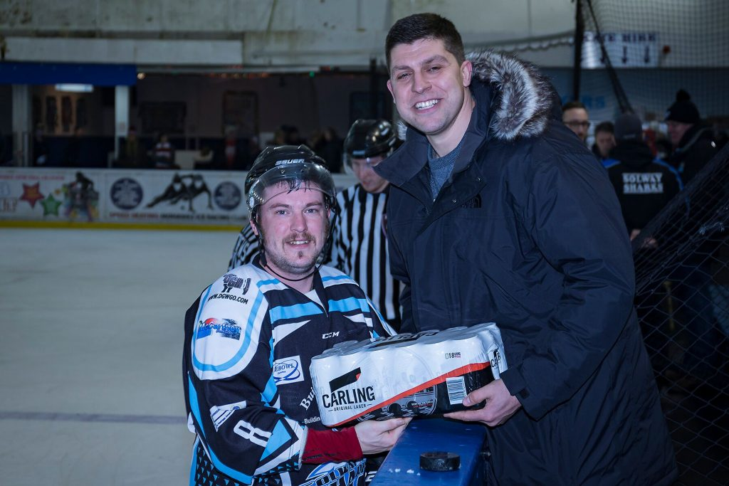 Sharks Man of the Match, Iain Bowie (Steve Crampton)