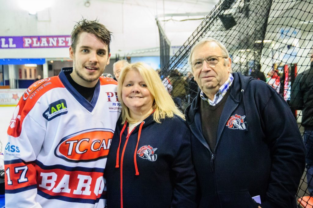 Superfans Mandy Longley & Paul Huckerby with Luke Brittle (Mike Burrowes)